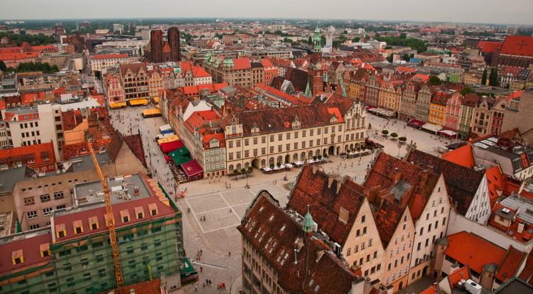 Площадь-рынок во Вроцлаве